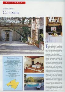 cas sant hoteles encanto Baleares 2000